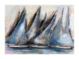 Vele blu Prints by Luigi Florio