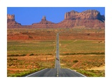 Highway Leading to Monument Valley, USA Prints by Jean-pierre Lescourret