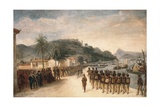 1811-14 Expedition Against Montevideo Giclee Print by Jean Baptiste Debret