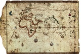 Nautical Chart known as Planisphere of King-Hamy Foto von Amerigo Vespucci