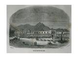 Main Square of Lima Peru in 1850 Print