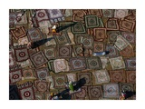 Colorful Carpets Drying on the Ground, India Prints by Yann Arthus-Bertrand