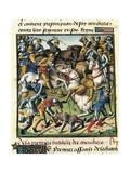 Battle Between Knights Poster by Vincent de Beauvais