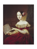 Maria Luisa, Infanta of Spain with Musical Score by Franz Schubert Giclee Print by Vicente Lopez y Portana