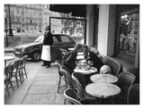 Kissing at Sidewalk Cafe, Paris Posters by Peter Turnley
