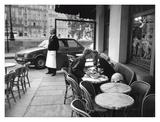 Kissing at Sidewalk Cafe, Paris Art by Peter Turnley