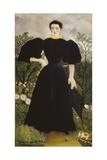 Portrait of Madame M Plakater af Henri Rousseau