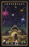 Wonderful Copenhagen, Tivoli Garden Travel Poster Framed Giclee Print