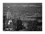 Chrysler Building and Queensboro Bridge Print by Murat Taner
