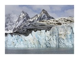 Neumayer Glacier Calving on South Georgia Island Posters by John Eastcott & Yva Momatiuk