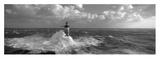 Faro batido por las olas Láminas por Jean Guichard