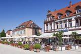 Street Cafe and Palais Hirsch, Schwetzingen, Rhein-Neckar-Kreis, Baden Wurttemberg, Germany, Europe Photographic Print by Markus Lange
