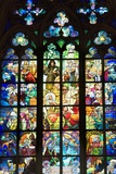 Stained Glass Windows of St. Vitus Cathedral Print