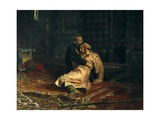Ivan the Terrible and His Son Ivan on Nov Prints by Ilya Yefimovich Repin