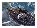 X Cargo Sailboat Racing Upwind Kunstdruck von Onne van der Wal