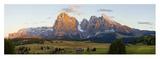 Seiser Alm and Dolomites Kunstdrucke von Peter Adams