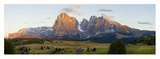 Seiser Alm and Dolomites Prints by Peter Adams