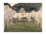 Landscape with Flowered Almond Trees Prints by Santiago Rusinol i Prats