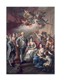 Homage to Charles IV and His Family Giclee Print by Vicente Lopez y Portana