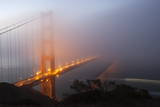 Golden Gate Bridge in Dawn Fog, San Francisco, California, United States of America, North America Photographic Print by Stuart Black