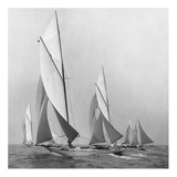 Sailboats Sailing Downwind, 1920 Posters by Edwin Levick