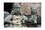 Supernatural Mayan Figure Holding a Torch Prints