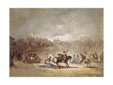 Bullfight Print by Eugenio Lucas velazquez