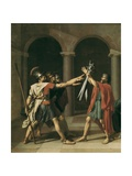 The Oath of the Horatii Affischer av Jacques-Louis David