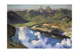 Cradle of the Confederation (Panorama of Lake Lucerne) Prints by Charles Giron