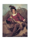 Abbot of Saint-Non, Dressed as a Spaniard Reproduction procédé giclée par Jean Honore Fragonard