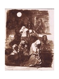 Group of Women Praying Prints by Francisco de Goya