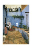 The Blue Courtyard Prints by Santiago Rusinol i Prats