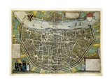 Map of Cologne Giclee Print by Abraham Ortelius