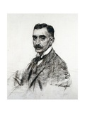 Portrait of Francesco Macia Print by Ramon Casas i Carbo