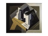 Fruit Bowl and Newspaper Posters by Juan Gris