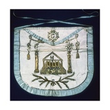 Apron of Master Mason, 19th C Poster
