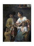 Casta Paintings, Mixed Race Family in Mexico Posters by Miguel Cabrera