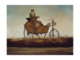 Man in Warm Clothing and Googles Steering at Toledo Steam Car Print