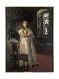 Grand Duchess Sophia Alekseyevna at the Novodevichy Convent Print by Ilya Yefimovich Repin