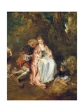 Embarkation for Cythera Plakater af Jean-Antoine Watteau