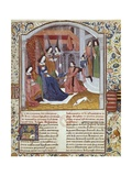 Jean Froissart Presenting His Chronicle to the Duchess of Burgundy Posters by Jean Froissart