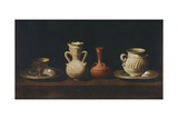 Still Life, Four Pots Print by Francisco de Zurbaran