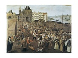 Catholic League in Paris Marching in Opposition to Henry IV in 1590 or 1593 Plakater