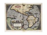Mapa de América Posters por Abraham Ortelius