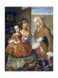 Casta Paintings, Mixed Race Family in Mexico Art by Miguel Cabrera