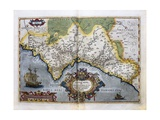 Map of the Kingdom of Valencia Giclee Print by Abraham Ortelius