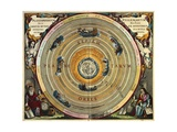 Ptolemy's Planisphere with Earth in Center Print by Andreas Cellarius