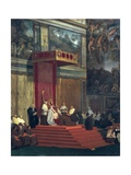 Pope Pius VII in the Sistine Chapel Giclee Print by Jean-Auguste-Dominique Ingres