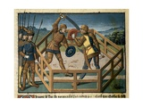 Two Knights Fighting Giclee Print by Jean Fouquet