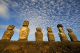 Moai on Ahu Tongariki Photo